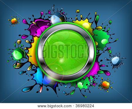 Icono de la mancha de tinta de color