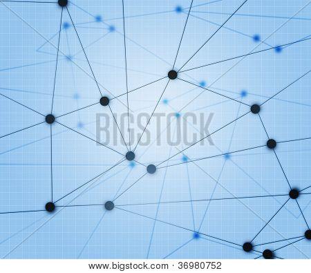 Blue Network Background