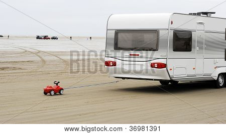Toy Car And Caravan