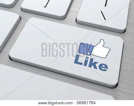 Like Button - Social Media Concept.