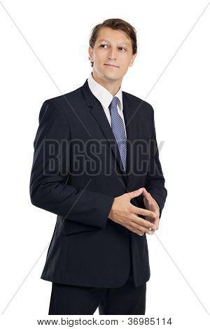 Handsome Businessman Thinking