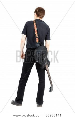 Rock Musician On White Background