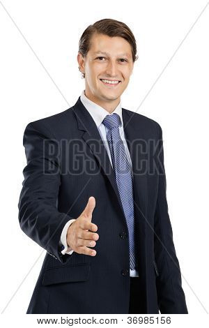 Friendly Businessman Handshake