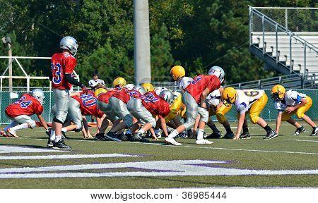 Teams Ready To Play Football