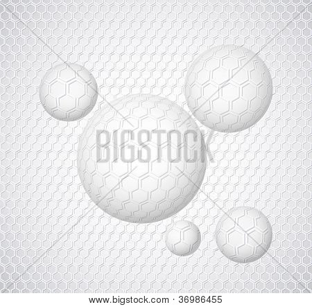 Abstract Background With Round Shapes