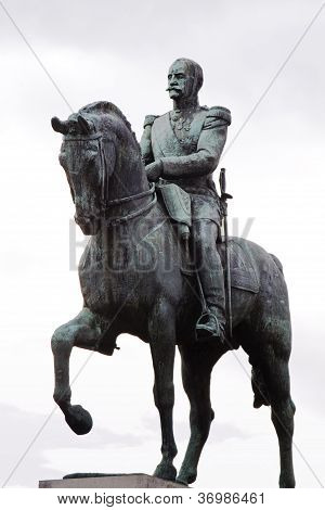 General With Horse Statue In Paris, France