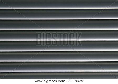 Horizontal Grey Lines - Venetian Blinds