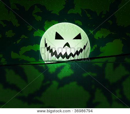 Green Halloween Background