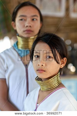 Padaung tribe girls, Myanmar