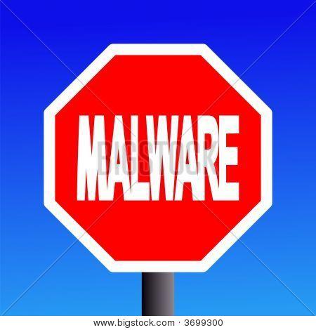 Stop Malware Sign