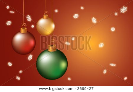Christmas Balls And Snowflakes