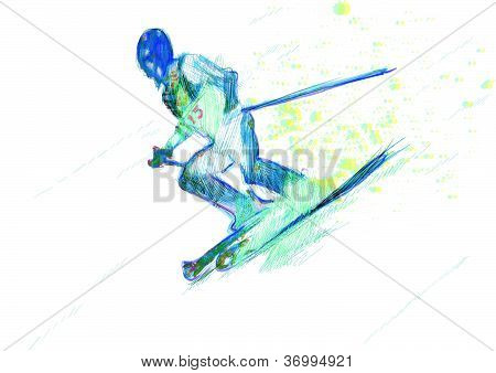 Winter sports - the Skier