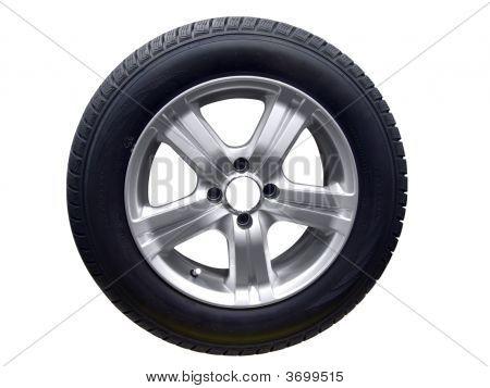 Tire With Aluminum Wheel Rim