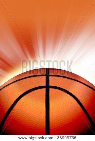 Orange Basketball Sport Background