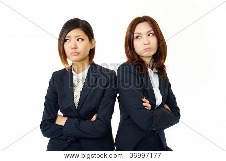 Two of the career woman of uneasy look