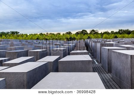The Jewish Memorial In Central Berlin, Germany