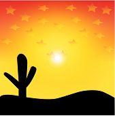 Vector Desert Sunset