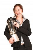 pic of food processor  - business woman with brown hair - JPG