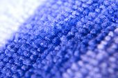 picture of villi  - Macro zoomed  two colored blue and white microfiber - JPG