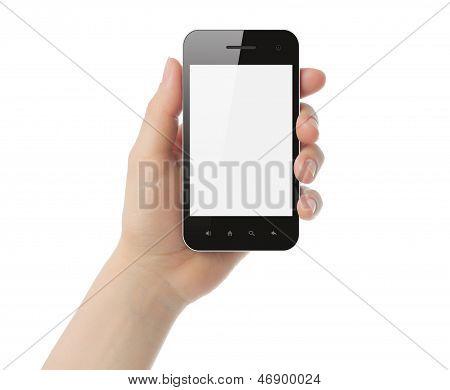 Teléfono inteligente de la explotación de mano