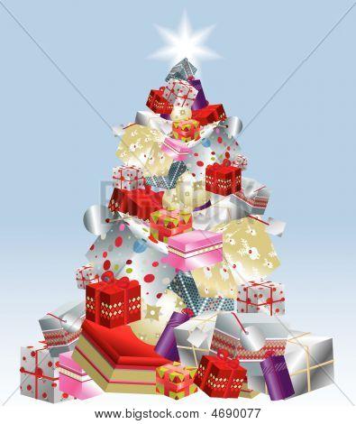 Christmas Tree Presents Stack