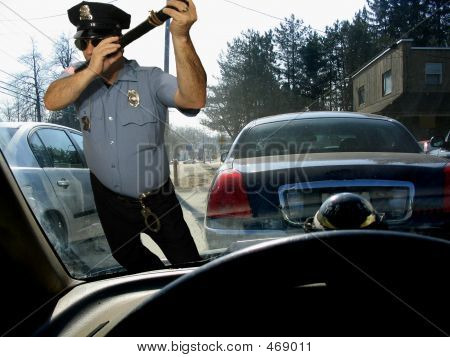 Flute Playing Cop