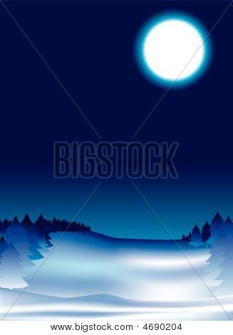 Snow Night Background