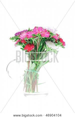 comum flor de malva (malva sylvestris) isolado sobre whitea