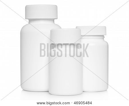 White medical containers