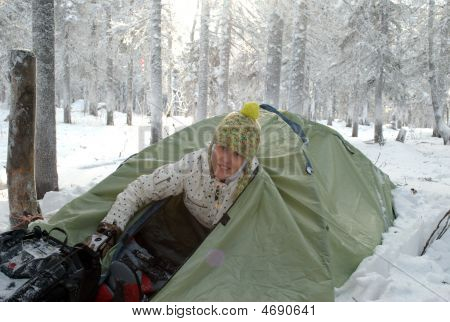 Girl In A Tent