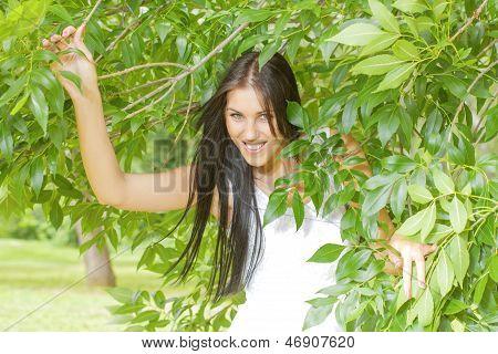 Beautiful Smiling Young Woman