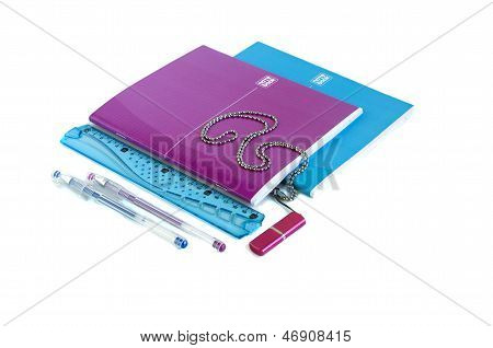 Notebooks, Pen, Ruler, Usb Flash Drive