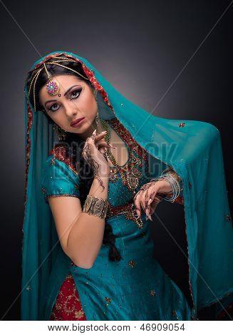 A beautiful Indian princess in national dress