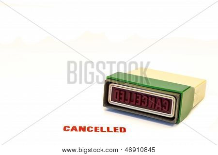 Red Cancelled stamp