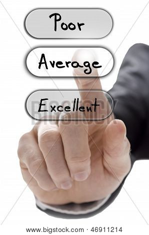 Choosing Average On Customer Service Evaluation Form