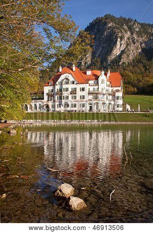 19th century building near Neuschwanstein castle in Bavarian alps, Germany