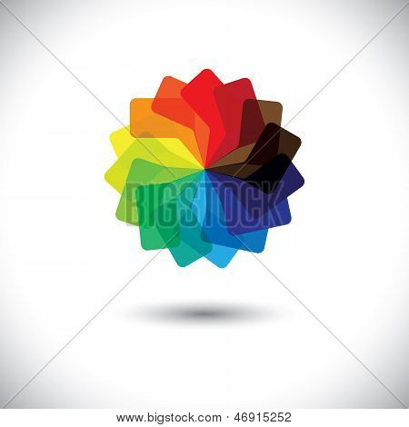 Concept Vector Graphic- Colorful Speech Bubbles As Circle Icon(symbol)