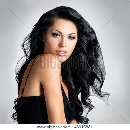 Brunette Woman With Beautiful Long Hair