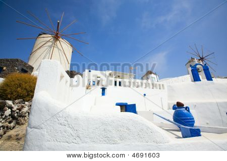Santorini Windmills