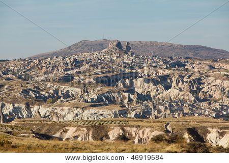 Uchisar castle in Cappadocia