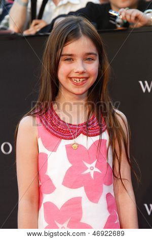 "NEW YORK-JUNE 17: Actress Sterling Jerins attends the premiere of ""World War Z"" at Times Square on June 17, 2013 in New York City."