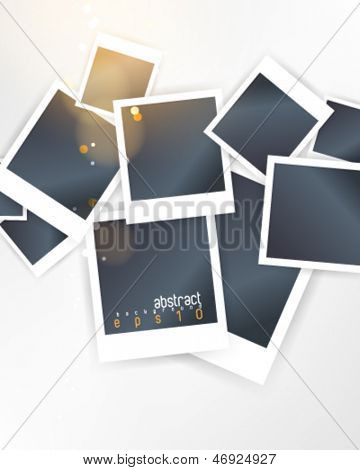 eps10 vector overlapping blank photo frames