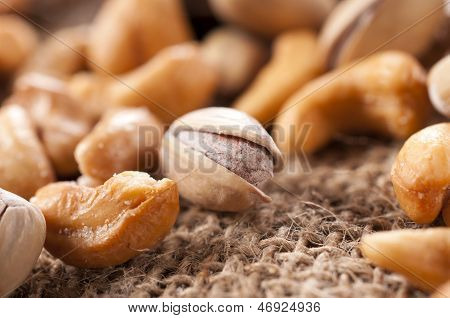 Pistachio And Cashew Nuts