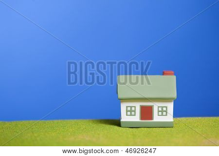 House on a grass. Conceptual image
