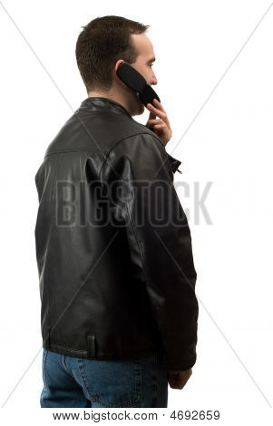 Casual Man On Cellphone