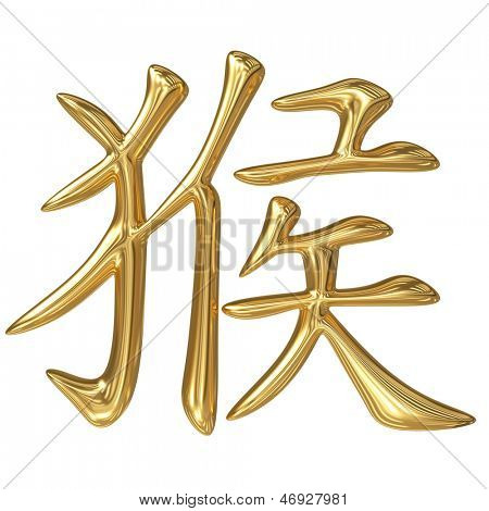 horoscope: golden sign of oriental (chinese) zodiac - monkey
