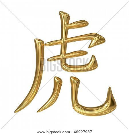 horoscope: golden sign of oriental (chinese) zodiac - tiger