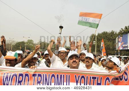 Trinamool Congress rally.