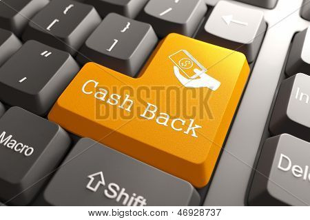 Keyboard with Cash Back Button.