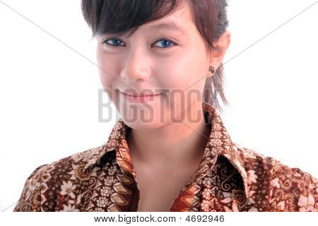 Excellent Young Beutiful Woman On White Background